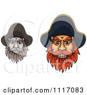 Vector Clipart Bearded Pirate Captain Faces Royalty Free Graphic Illustration by Vector Tradition SM
