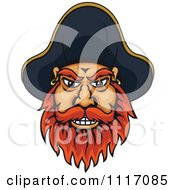 Vector Clipart Pirate Captain Face With A Red Beard Royalty Free Graphic Illustration by Seamartini Graphics