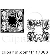 Vector Clipart Celtic Heron Frames Royalty Free Graphic Illustration