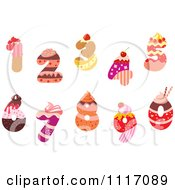 Vector Clipart Bakery Cupcake And Sweet Number Designs Royalty Free Graphic Illustration