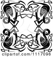 Vector Clipart Celtic Heron Frame 2 Royalty Free Graphic Illustration