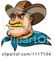 Vector Clipart Blond Cowboy Face Royalty Free Graphic Illustration by Vector Tradition SM