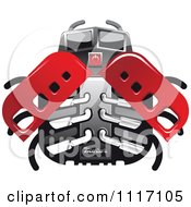 Vector Clipart Racing Ladybug Robot 1 Royalty Free Graphic Illustration