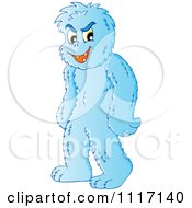 Vector Cartoon Of A Standing Yeti Royalty Free Clipart Graphic