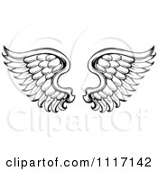 Vector Cartoon Of A Black And White Wings Royalty Free Clipart Graphic by visekart