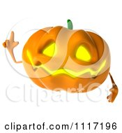Clipart Of A 3d Halloween Jackolantern With An Idea Royalty Free CGI Illustration by Julos