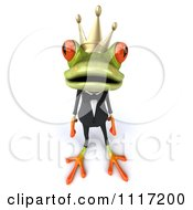 Clipart Of A 3d Springer Frog Prince In A Suit Royalty Free CGI Illustration