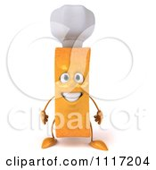 Clipart 3d Chef French Fry Smiling Royalty Free CGI Illustration by Julos