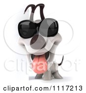 Clipart 3d Jack Russell Terrier Dog Wearing Sunglasses 1 Royalty Free CGI Illustration