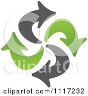 Vector Clipart Of A Green And Black Green Energy Recycle Icon 3 Royalty Free Graphic Illustration by Andrei Marincas