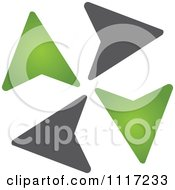 Vector Clipart Of A Green And Black Green Energy Recycle Icon 4 Royalty Free Graphic Illustration by Andrei Marincas