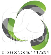 Vector Clipart Of A Green And Black Green Energy Recycle Icon 2 Royalty Free Graphic Illustration by Andrei Marincas