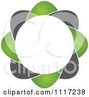 Vector Clipart Of A Green And Black Green Sustainable Energy Icon 4 Royalty Free Graphic Illustration by Andrei Marincas