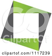 Vector Clipart Of A Green And Black Green Sustainable Energy Icon 3 Royalty Free Graphic Illustration