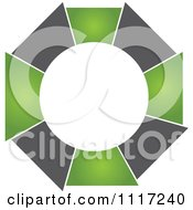Vector Clipart Of A Green And Black Green Sustainable Energy Icon 2 Royalty Free Graphic Illustration