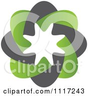 Vector Clipart Of A Green And Black Green Sustainable Energy Icon 1 Royalty Free Graphic Illustration
