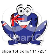 Vector Clipart Happy Australian Flag Frog Royalty Free Graphic Illustration by Andrei Marincas #COLLC1117251-0167