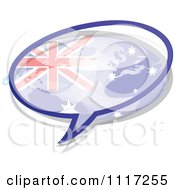 Vector Clipart Of A Australian Flag Chat Balloon Royalty Free Graphic Illustration