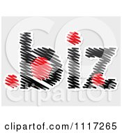 Vector Clipart Of A Dot Biz Scirbbled On Gray Royalty Free Graphic Illustration by Andrei Marincas