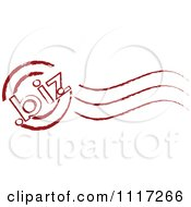 Vector Clipart Of A Red Dot Biz Postmark Stamp Royalty Free Graphic Illustration by Andrei Marincas