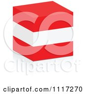 Vector Clipart Of A 3d Austrian Flag Cube And Reflection Royalty Free Graphic Illustration by Andrei Marincas