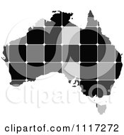 Vector Clipart Of A Grayscale Tiled Australian Map Royalty Free Graphic Illustration by Andrei Marincas