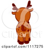 Cartoon Of A Rear View Of A Cute Deer Royalty Free Vector Clipart by BNP Design Studio