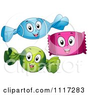 Cartoon Of Happy Wrapped Candies Royalty Free Vector Clipart by BNP Design Studio