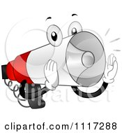 Cartoon Of A Loud Megaphone Making An Announcement Royalty Free Vector Clipart