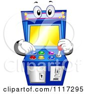 Cartoon Of An Arcade Video Game Machine With Buttons And A Joystick Royalty Free Vector Clipart by BNP Design Studio