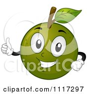 Cartoon Of A Happy Calamansi Fruit Holding A Thumb Up Royalty Free Vector Clipart