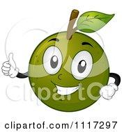 Happy Calamansi Fruit Holding A Thumb Up