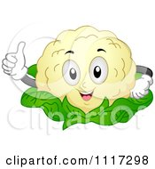 Cartoon Of A Happy Cauliflower Holding A Thumb Up Royalty Free Vector Clipart