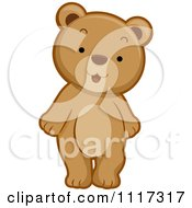 Cartoon Of A Cute Bear Standing Royalty Free Vector Clipart by BNP Design Studio