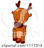 Cartoon Of A Cute Deer Royalty Free Vector Clipart by BNP Design Studio