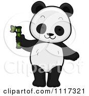 Cute Panda With Bamboo