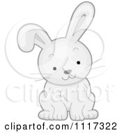 Cartoon Of A Cute White Bunny Rabbit Royalty Free Vector Clipart