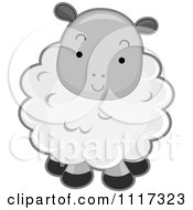 Cartoon Of A Cute Fluffy Sheep Royalty Free Vector Clipart by BNP Design Studio