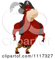 Cartoon Of A Strong Ox Pirate Royalty Free Vector Clipart