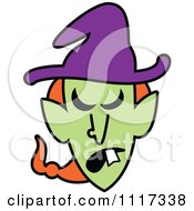 Cartoon Of A Halloween Witch With An Angry Expression Royalty Free Vector Clipart by Zooco