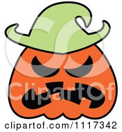 Cartoon Of A Halloween Jackolantern Scarecrow With An Angry Expression Royalty Free Vector Clipart by Zooco