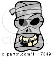 Cartoon Of A Halloween Mummy With A Naughty Grin Royalty Free Vector Clipart by Zooco