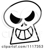 Cartoon Of A Halloween Skull With A Naughty Grin Royalty Free Vector Clipart by Zooco