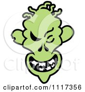 Cartoon Of A Halloween Zombie With A Naughty Grin Royalty Free Vector Clipart by Zooco
