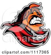 Aggressive Devil Mascot In Profile