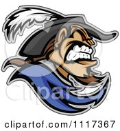 Vector Clipart Of A Aggressive Cavalier Soldier In Profile Royalty Free Graphic Illustration
