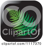 Clipart Of A Fern Branch Black Icon Royalty Free Vector Illustration by Lal Perera