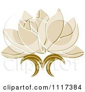 Beige Lotus Flower
