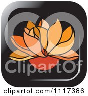 Clipart Of An Orange Lotus Flower Icon Royalty Free Vector Illustration