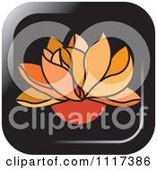 Orange Lotus Flower Icon